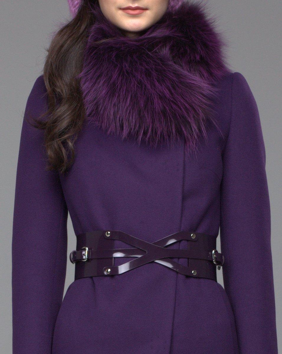 Зимнее пальто с асимметрией