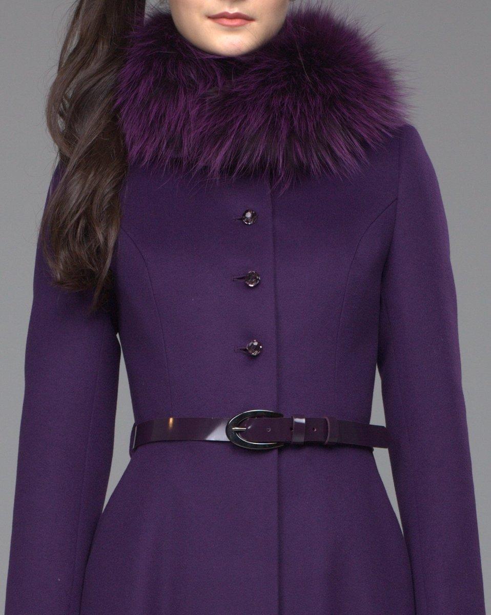 Зимнее пальто с юбкой солнце