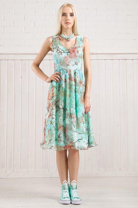 132b5ebfd945152 Платье из натурального шелка с пуговицами сзади