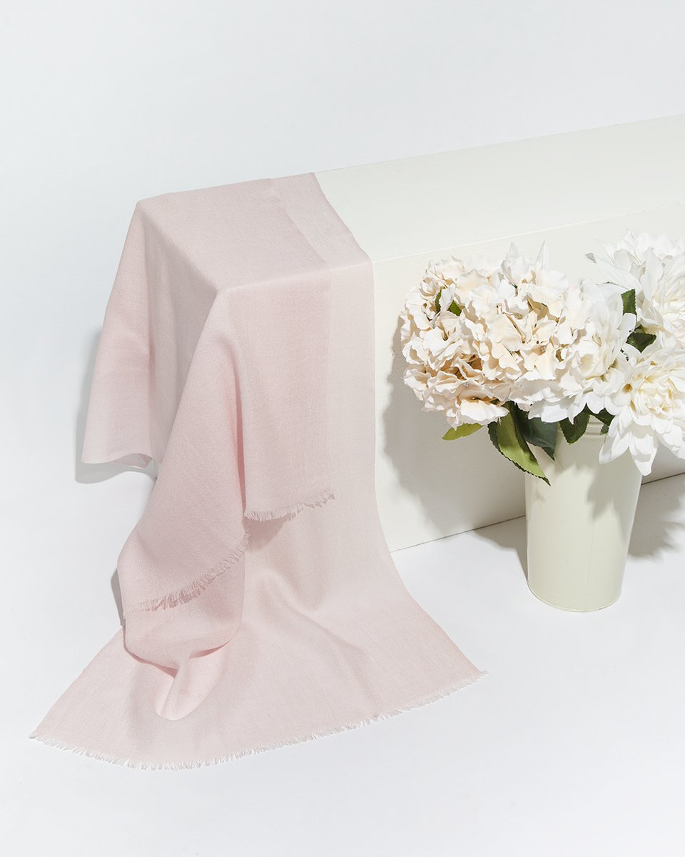 Палантин светло-розового цвета 55/185