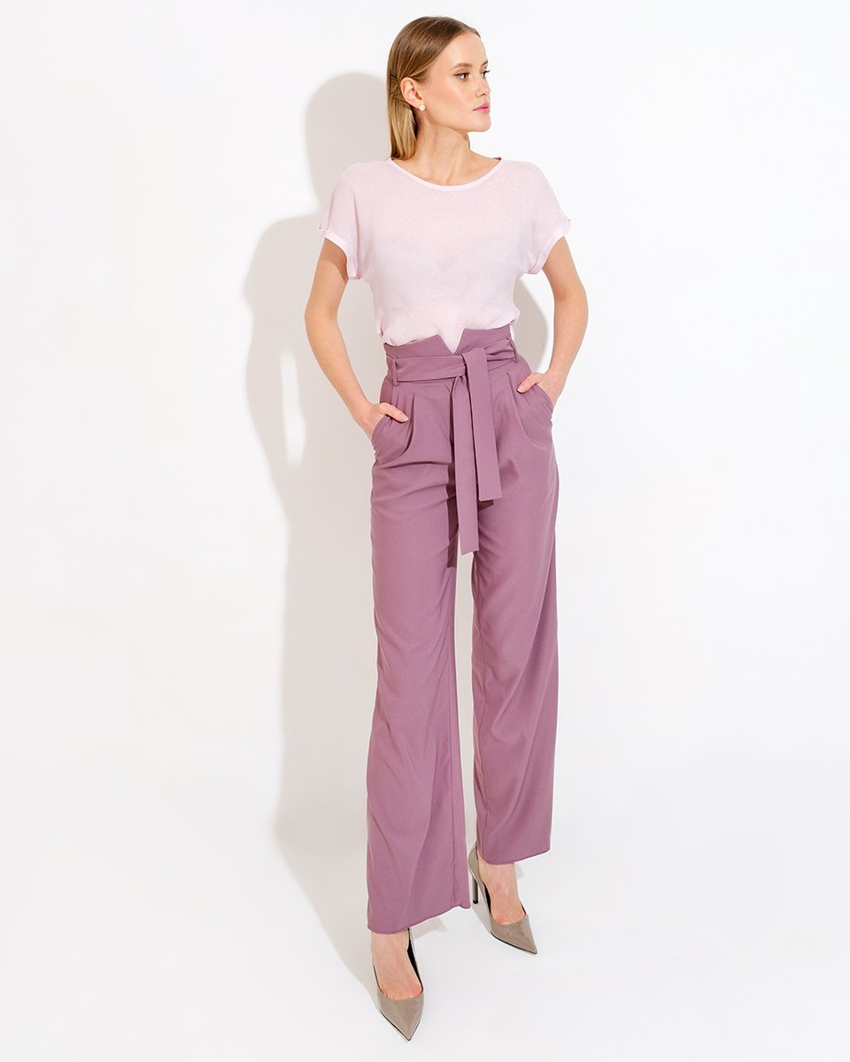 Широкие брюки цвета лаванды