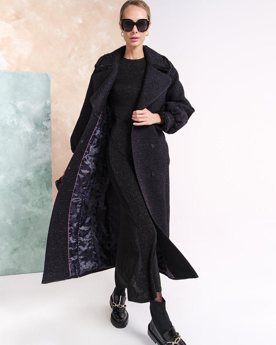 Limited edition. Пальто из фактурной ткани с мерцающей нитью