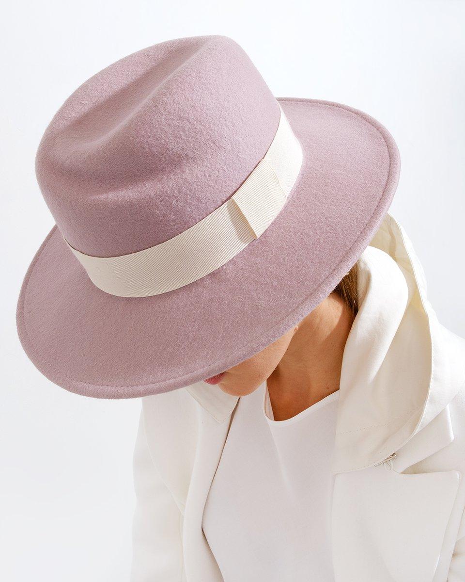 Шляпа Bend розового цвета