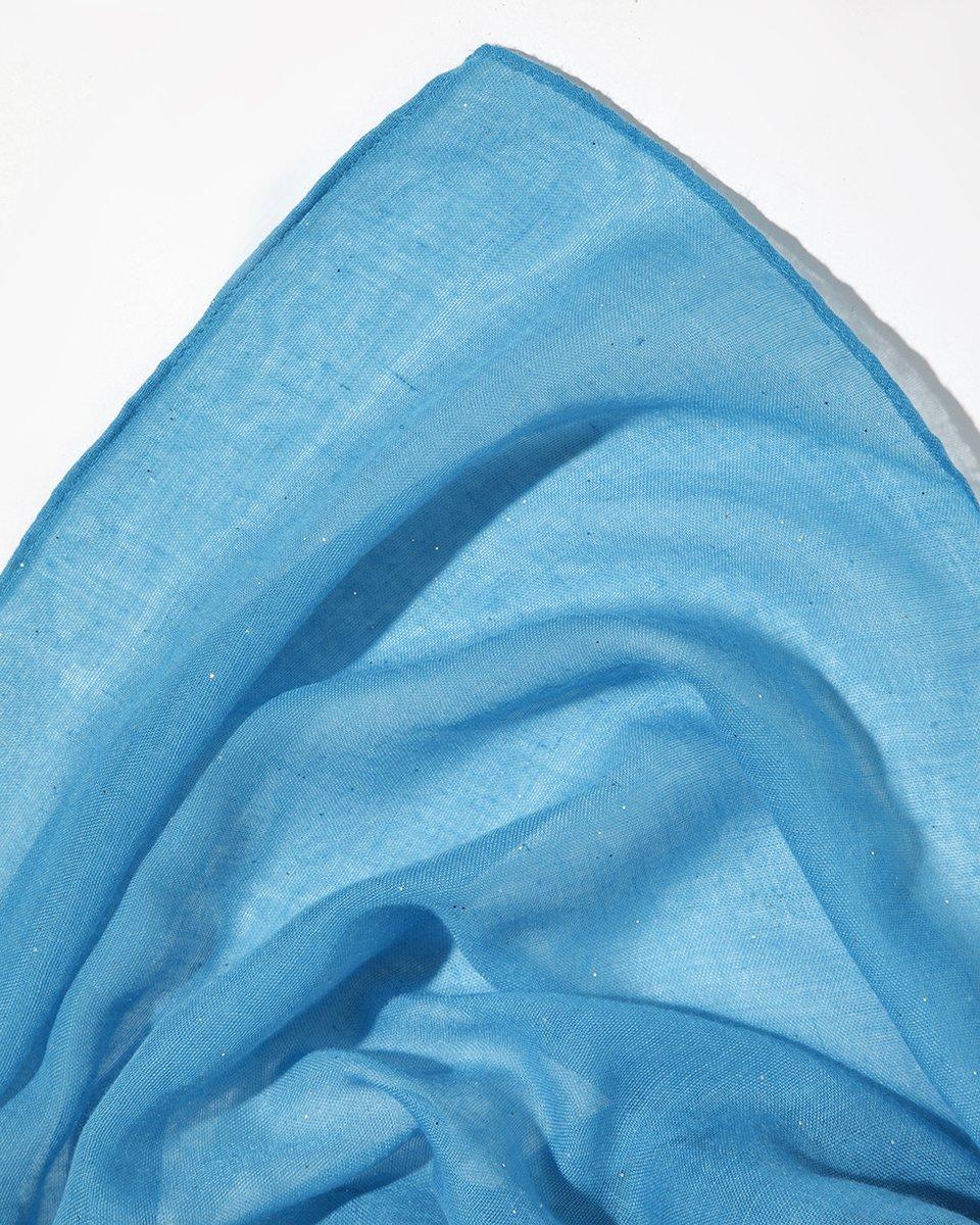 Палантин голубого цвета с блестками