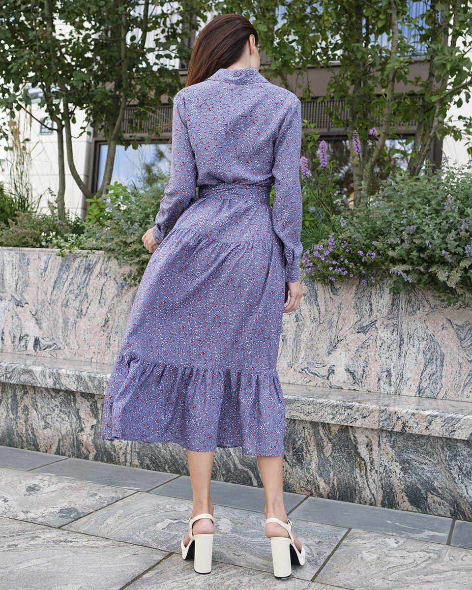 Платье - миди в цветочный принт