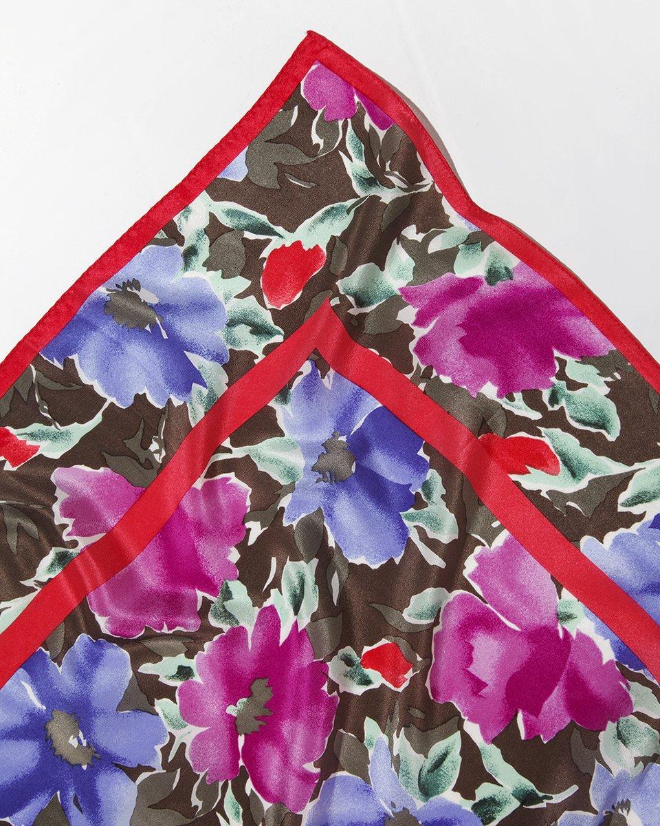 """Платок с принтом """"акварельные цветы"""""""