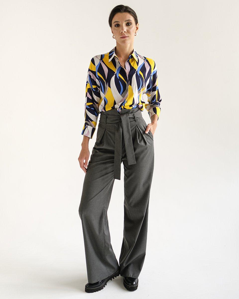 Блуза из вискозы, с ярким принтом