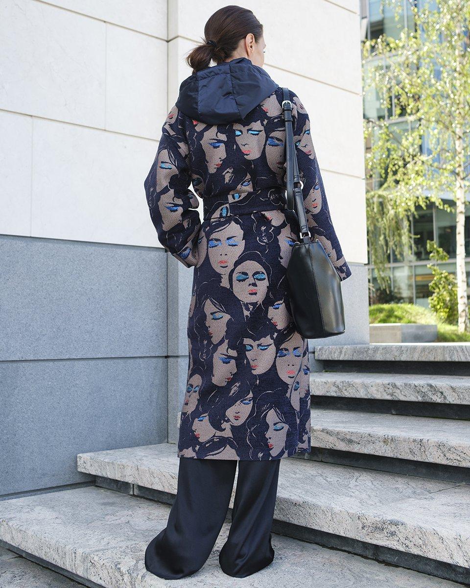 Limited edition. Пальто-кимоно из жаккарда