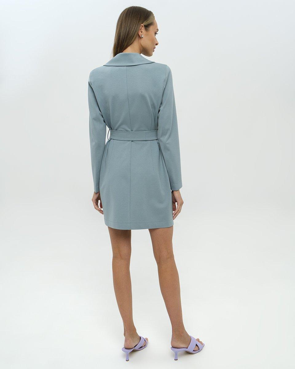 Платье-жакет мятного цвета