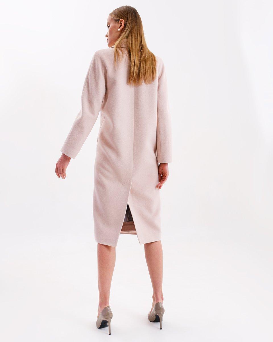 Limited Edition. Пальто прямого кроя из ангоры и шелка