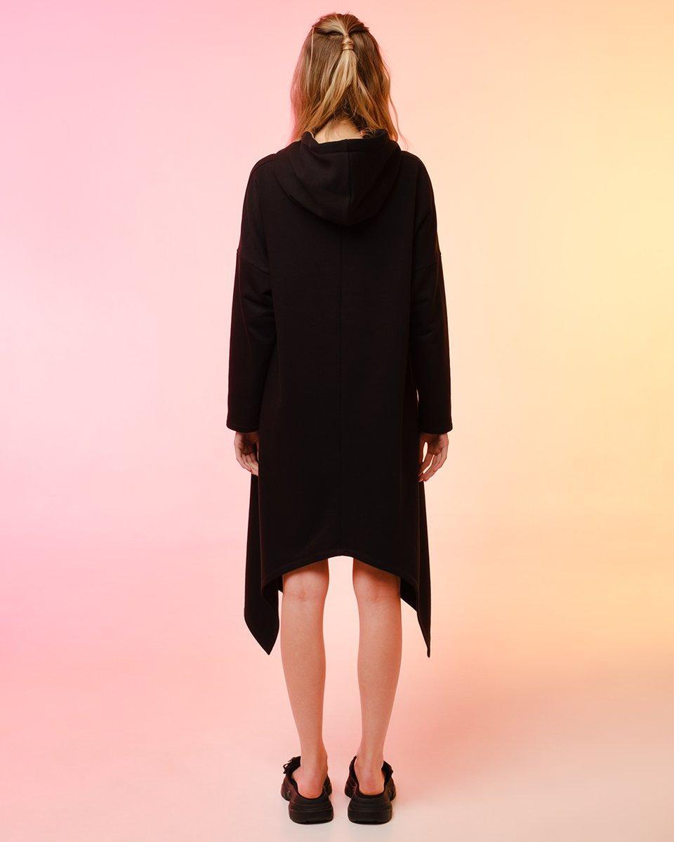 Платье-худи с асимметричным подолом
