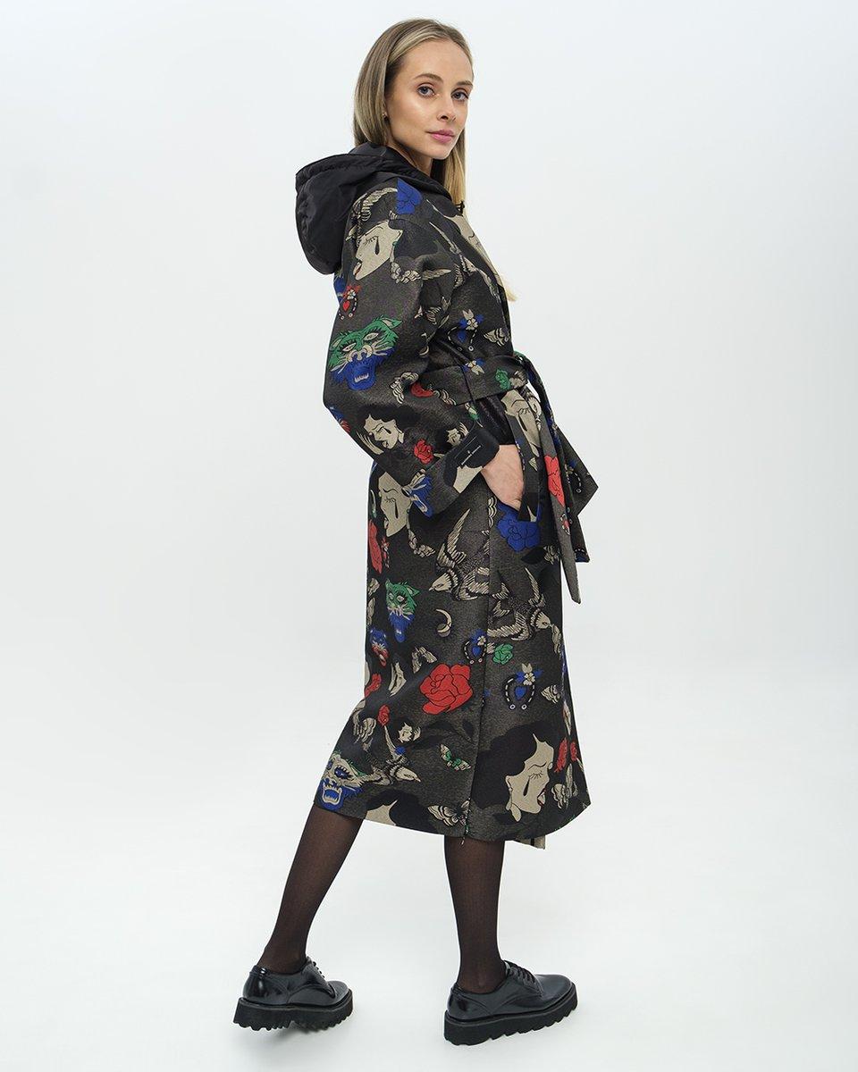 Limited edition, Пальто-кимоно из жаккарда.