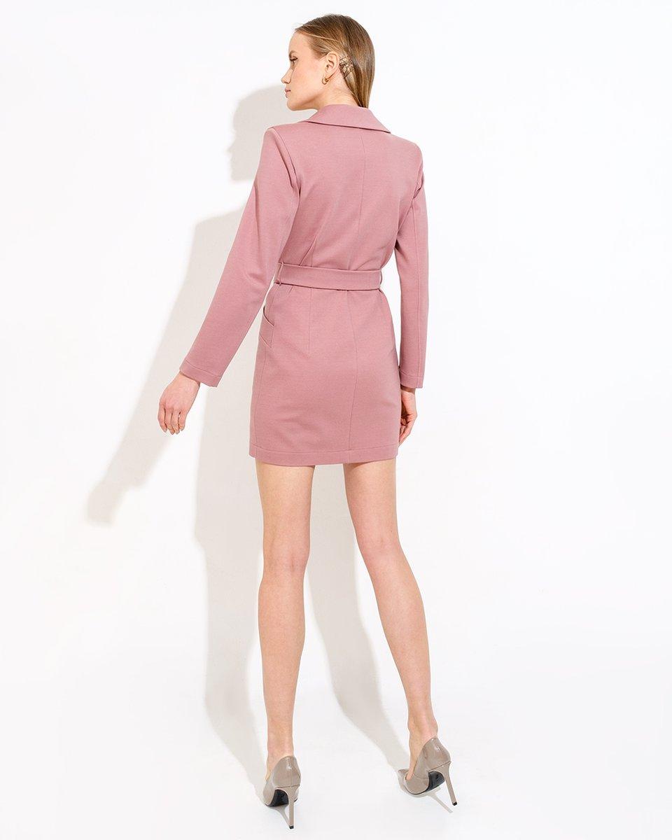 Платье-жакет с поясом из трикотажа
