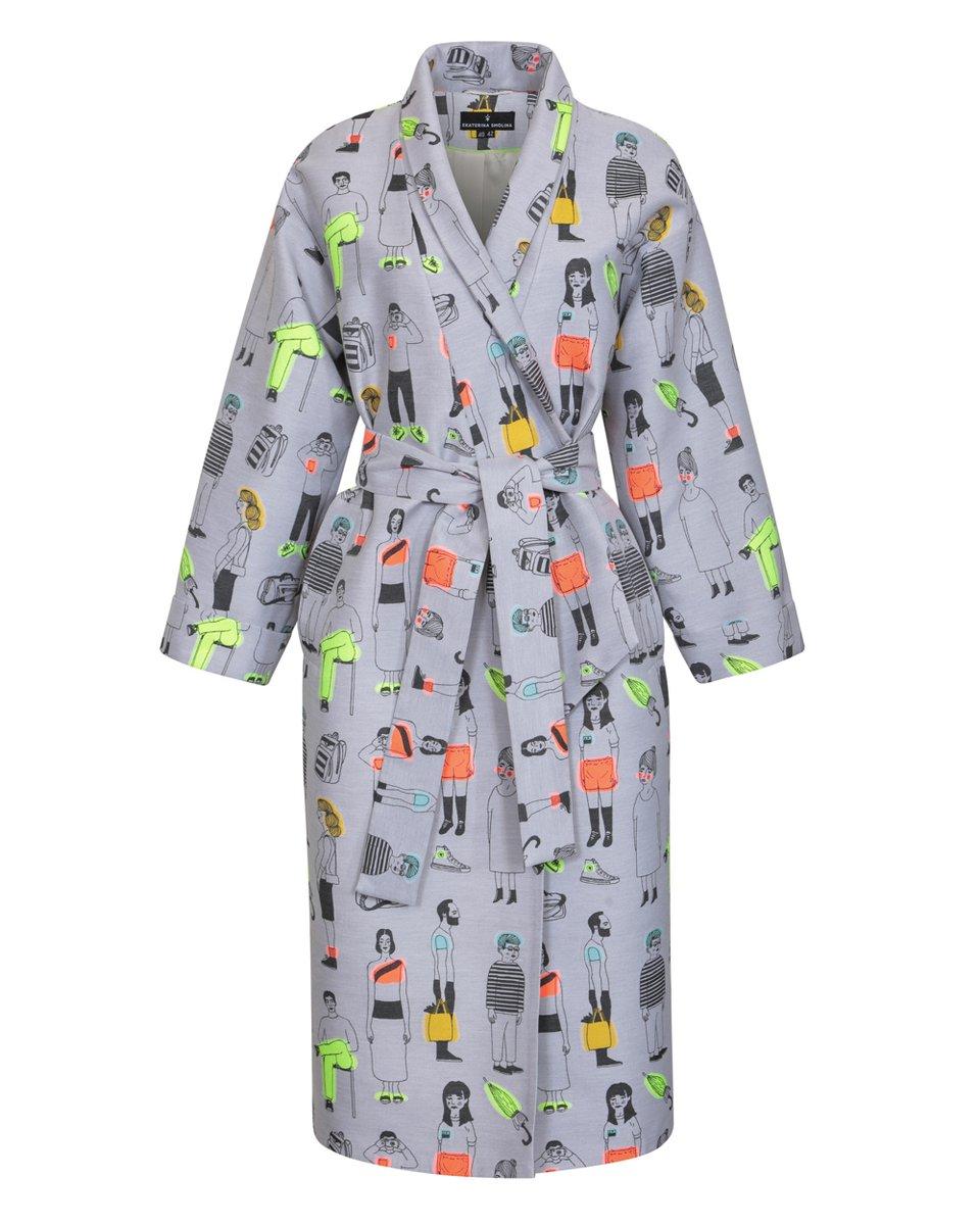 Limited edition. Пальто-кимоно с ярким принтом