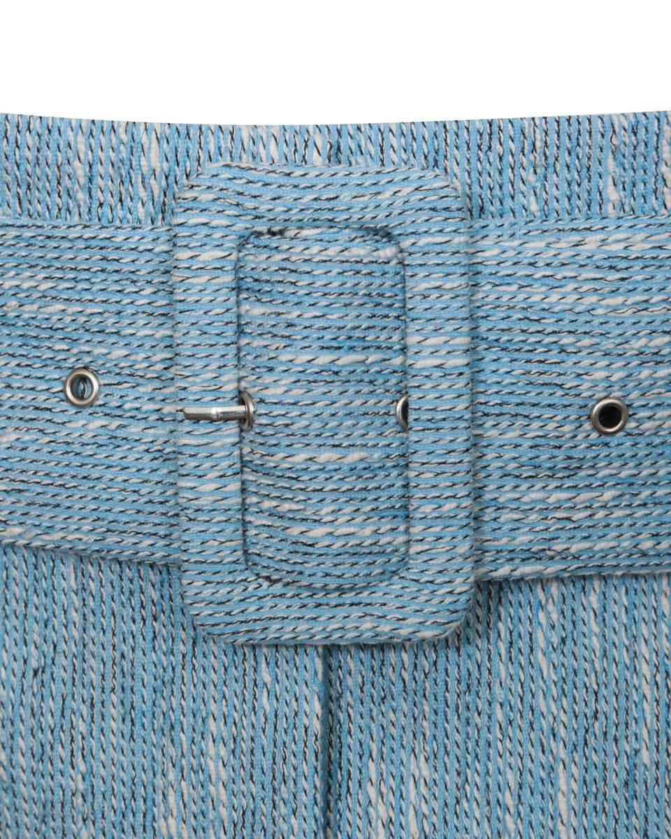 Юбка из фактурной ткани с текстильным поясом