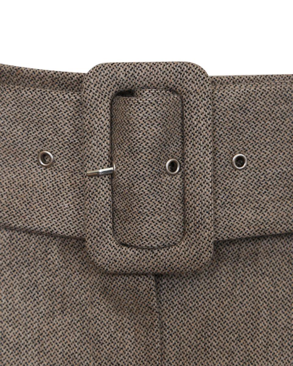Юбка с защипами и текстильным поясом