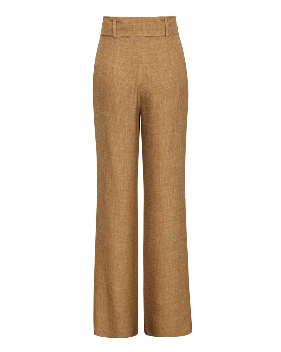Базовые широкие брюки песочного цвета