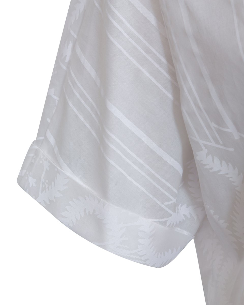 Рубашка с коротким рукавом и фактурным рисунком
