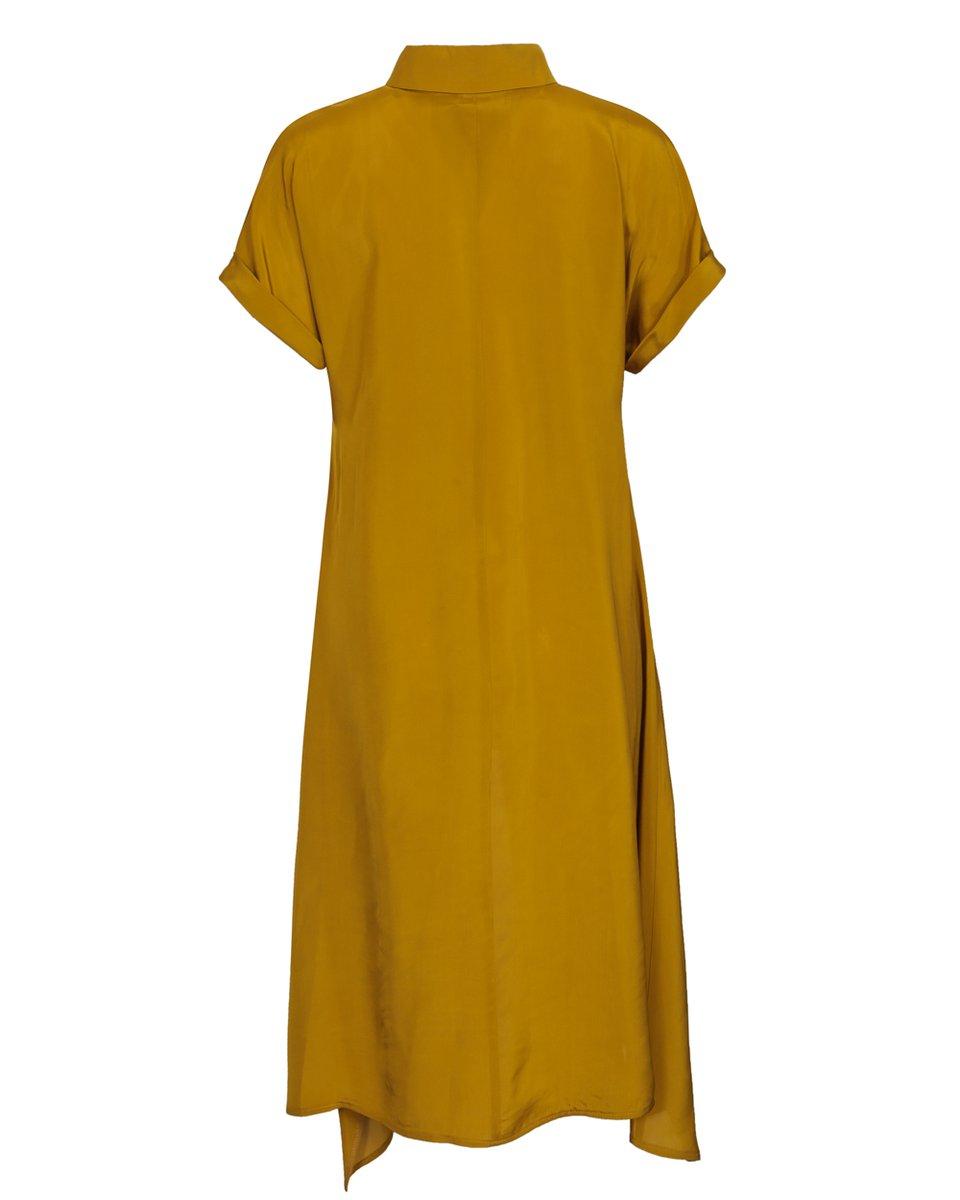 Платье-рубашка с асимметричным подолом