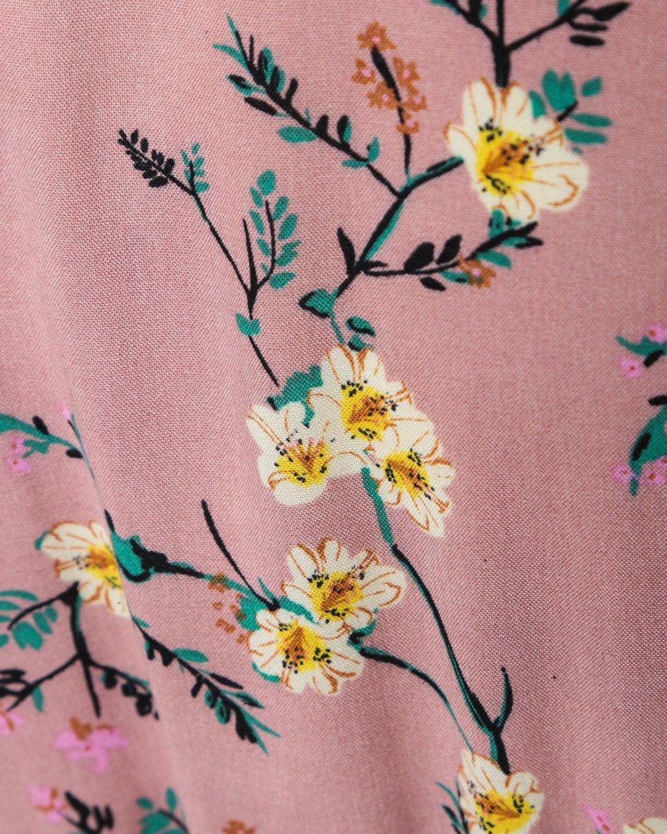 Платье с юбкой на запах,  в цветочный принт