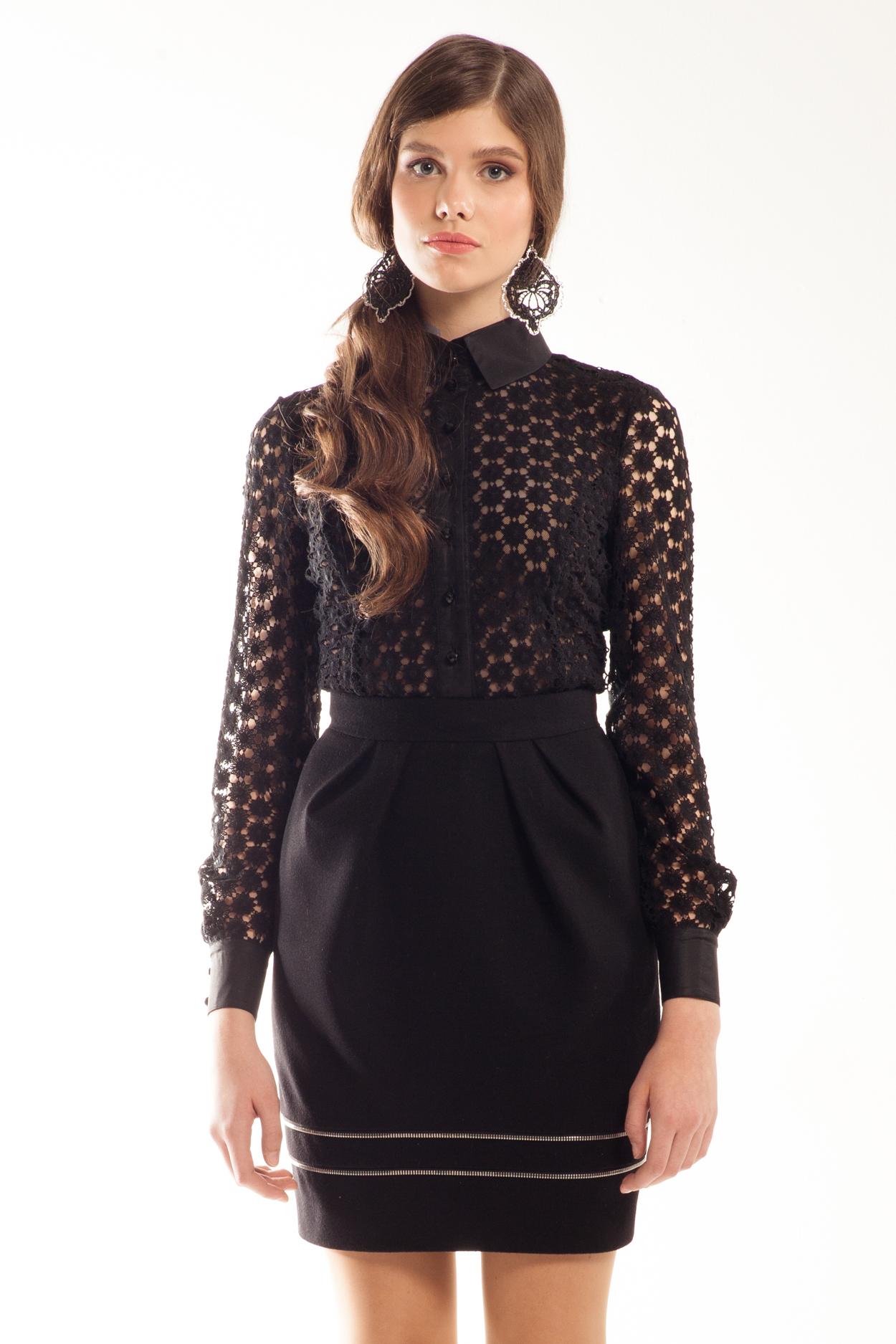 Черная Кружевная Блузка С Доставкой