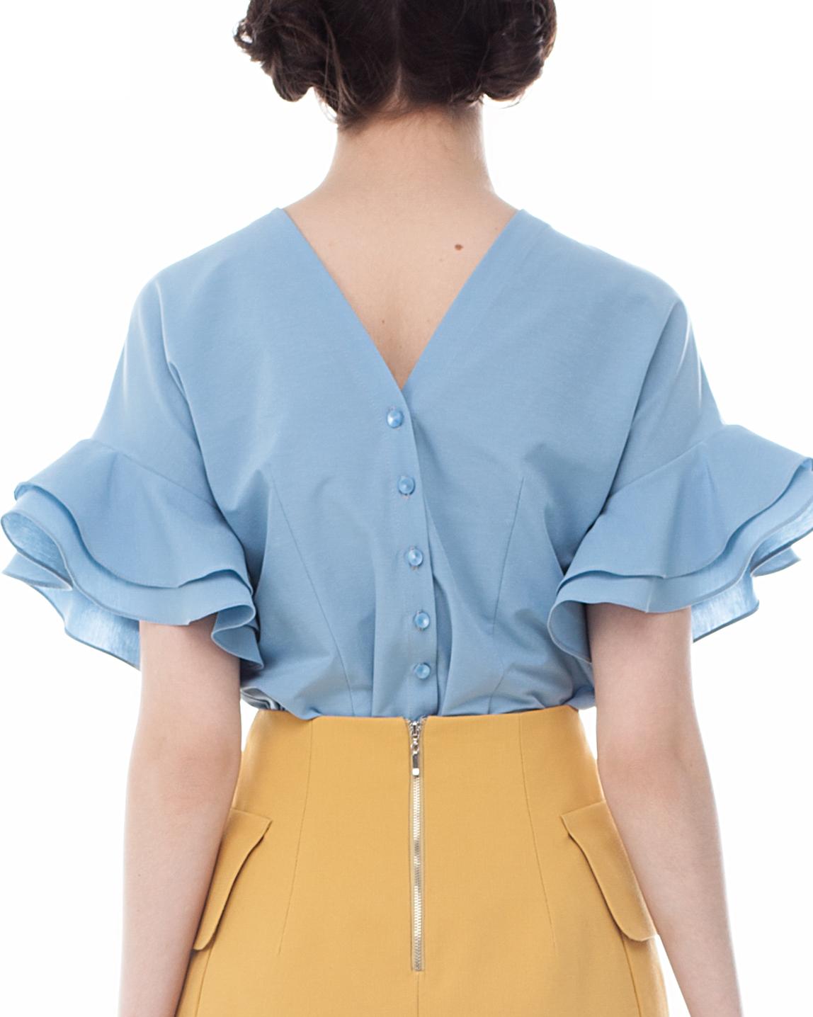 Купить Блузку С Валанами