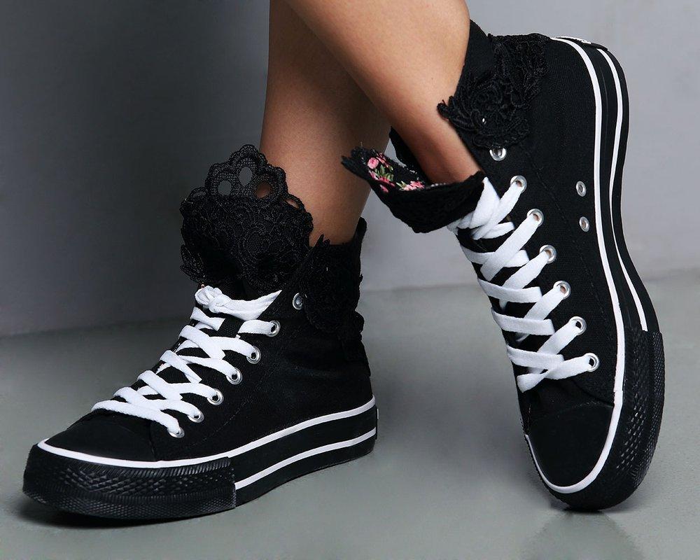 Кеды чёрные модные