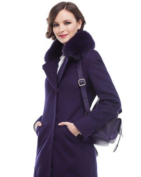 Пальто длины миди  со декоративными элементами бери юбке