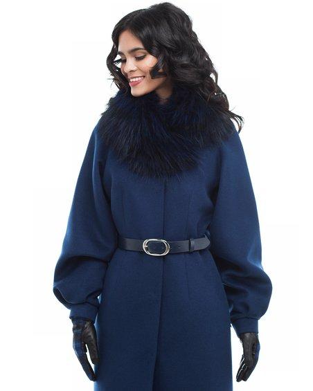 Пальто из пышным рукавом да юбкой-тюльпан