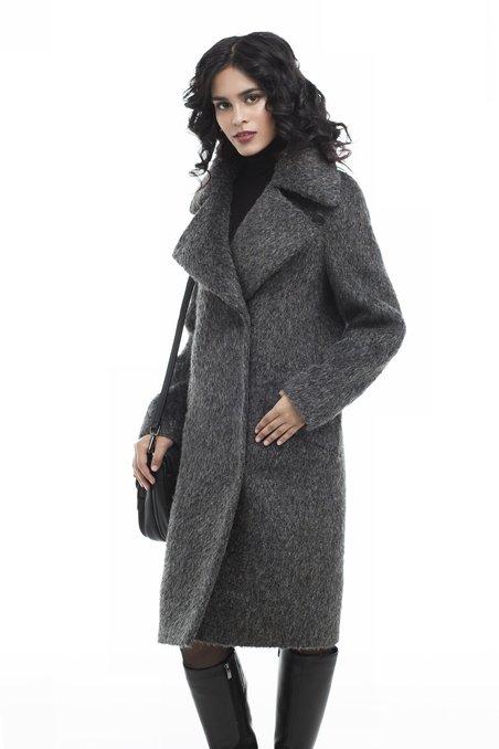 Пальто свободного кроя изо ворсовой ткани