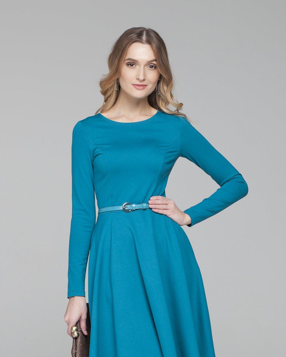 Платье приталенное с юбкой солнце