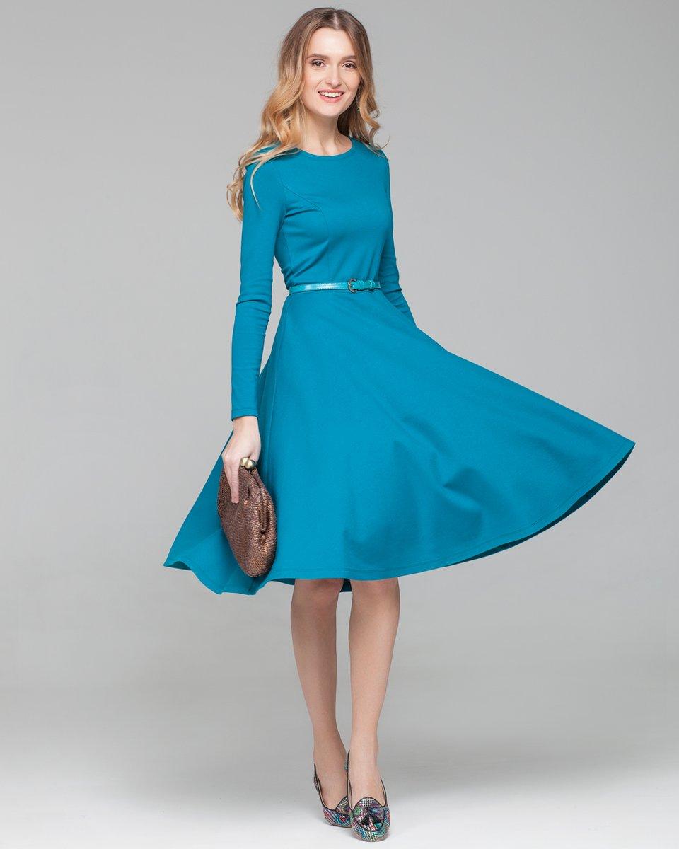 Платья по колено полусолнце