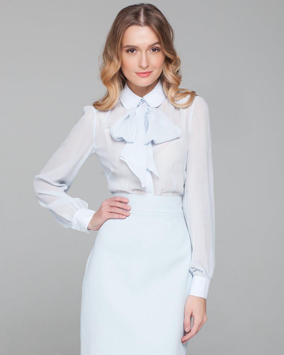 Блузка с воротником бантом в спб