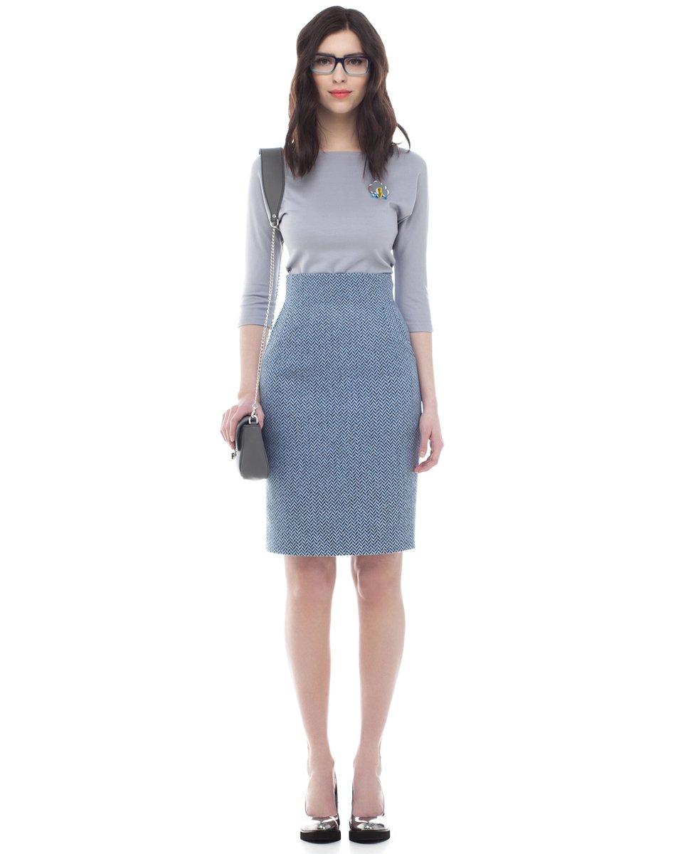 Голубая юбка доставка