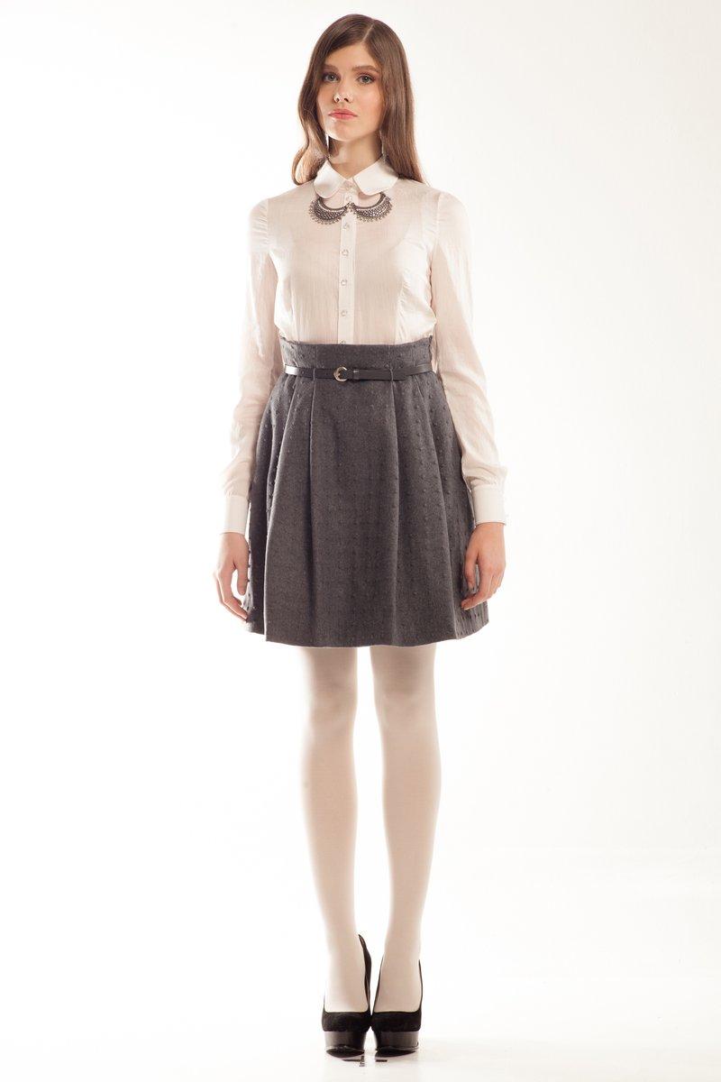 Купить серую пышную юбку