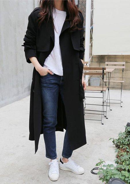 Женское длинное пальто
