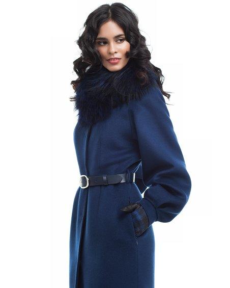 Пальто вместе с пышным рукавом равно юбкой-тюльпан